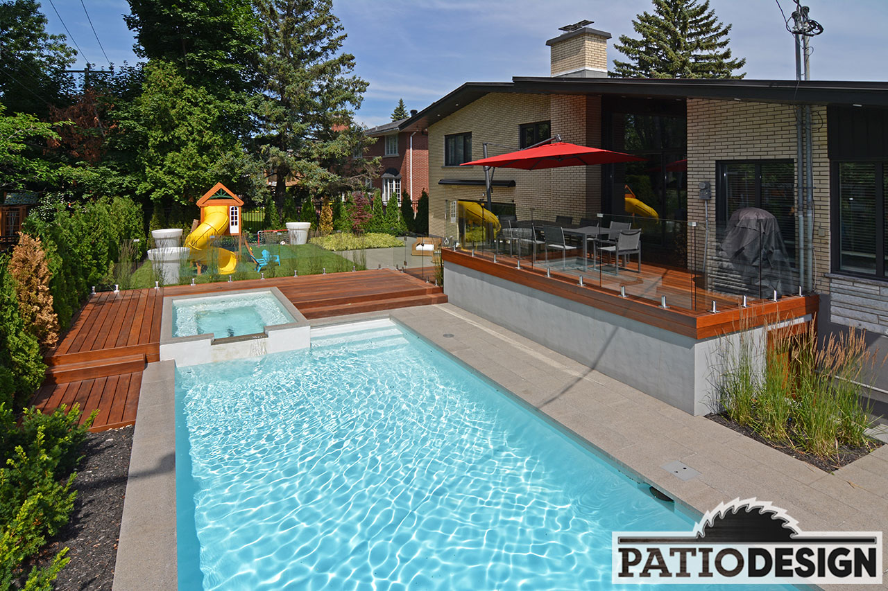 design, construction and installation of patios around a pool
