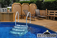Patio with pool by Patio Design inc.