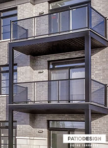 Balconies and front doors by Patio Design inc.