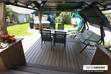 Patio with a SPA by Patio Design inc.
